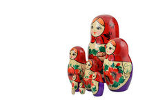 Russian family set 8 doll isolated. Babushka or Matreshka Stock Photography
