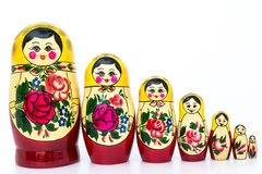 Russian family set doll Stock Images