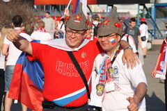 Russian fans Stock Photography