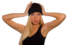 Russian fashion beauty   Royalty Free Stock Image