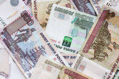 Russian Federation banknotes Stock Photos