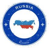 Russian Federation circular patriotic badge. Stock Image
