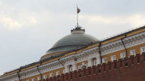 Russian Federation Flag Over Kremlin Stock Photography