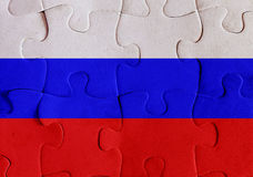 Russian Federation flag puzzle Stock Photography