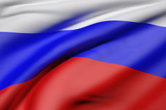 Russian Federation flag waving. 3d rendering of Russian Federation flag waving Royalty Free Stock Photography