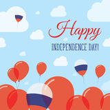 Russian Federation Independence Day Flat. Stock Photography