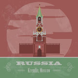 Russian Federation landmarks. Retro styled image Stock Photo
