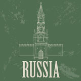 Russian Federation landmarks. Retro styled image Royalty Free Stock Photo