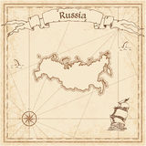 Russian Federation old treasure map. Stock Photography