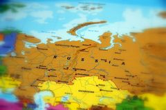 The Russian Federation. Russia, officially the Russian Federation selective focus Royalty Free Stock Photos