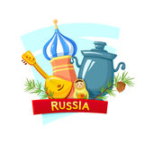 The Russian Federation,  vector illustration. Symbols of the Russian Federation, concept design, vector illustration Royalty Free Stock Photography
