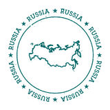Russian Federation vector map. Royalty Free Stock Photography