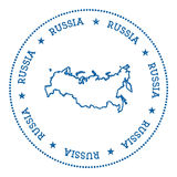 Russian Federation vector map sticker. Royalty Free Stock Photo