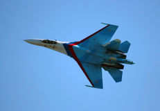 Russian fighter aircraft Stock Images