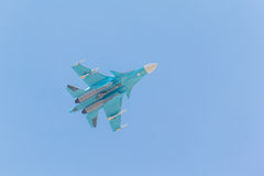 Russian fighter demonstration flight Stock Photo