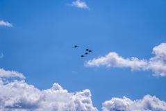 Russian fighters in the air Royalty Free Stock Photography