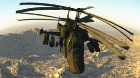 The Russian fighting helicopter Stock Photography