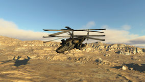 The Russian fighting helicopter Stock Image