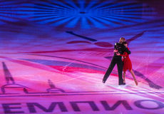 Russian figure skaters Royalty Free Stock Images