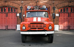 Russian fire engine Royalty Free Stock Image