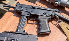 Russian firearms. Submachine gun Kedr Stock Photography