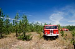 Russian firetruck Royalty Free Stock Photos