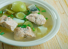 Russian fish solyanka soup Stock Image