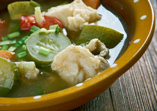 Russian fish solyanka. Soup - Ural kalja Stock Photo