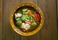Russian fish solyanka. Soup - Ural kalja Stock Photos