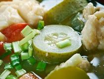 Russian fish solyanka. Soup - Ural kalja Royalty Free Stock Photo