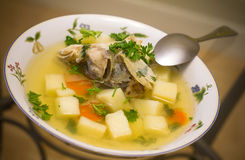 Russian fish soup Stock Photos
