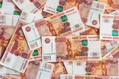 Russian five thousand money background Stock Image