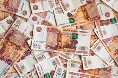 Russian five thousand money background Royalty Free Stock Photo