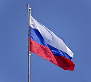 Russian flag on Royalty Free Stock Photography