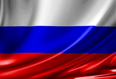 Russian flag Stock Photos