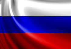 Russian flag. Waving in the wind Stock Images