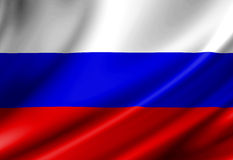 Russian flag. Waving in the wind Royalty Free Stock Images