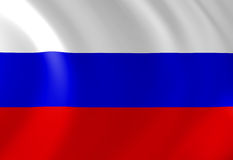 Russian flag. Waving in the wind Royalty Free Stock Image