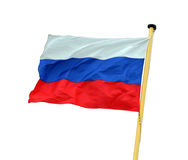 Russian flag. Russian national flag isolated on white Stock Image