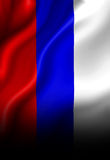 Russian flag. Waving in the wind Royalty Free Stock Photos