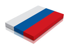 Russian flag. 3d Render with reflection royalty free illustration