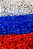 Russian flag. Colored tinsel of Russian flag royalty free stock image