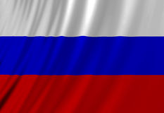 Russian flag. Waving in the wind Royalty Free Stock Photo