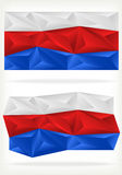 Russian Flag Background of triangles Royalty Free Stock Photography