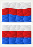 Russian Flag Background of triangles Stock Photo