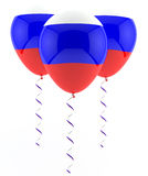Russian flag balloon. Russian flah balloon on white Stock Photo