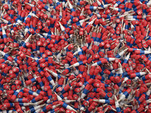 Russian flag bullets background. 3d render of russian flag bullets background Royalty Free Stock Photo