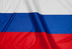 Russian Flag. Close up of flag of Russia royalty free stock images