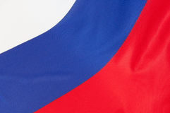 Russian Flag. Close up of flag of Russia stock image