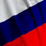 Russian Flag Closeup Stock Photos